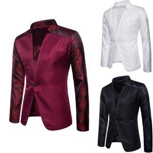 Homens Blazer Moda Primavera marca de alta qualidade Algodão Slim Fit homens terno clássico Mens Blazers paletós Coats