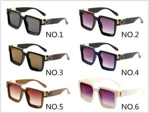 NUEVO 0993 MODA CLÁSICA CLÁSICA Gafas de sol Hombres y mujeres Shade Brand Gafas Square UV400 Gafas de sol de lujo con caja y tela