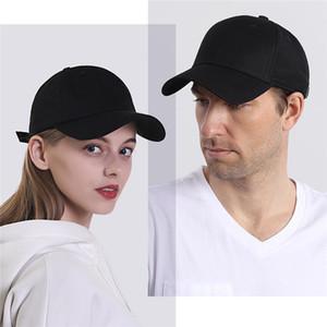 Gorra de béisbol estilo polo clásico, todo de algodón, hecho ajustable, para hombres, mujeres, de perfil bajo, sombrero negro, sin construir, papá