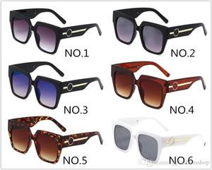 2020 새로운 1074 평방 프레임 선글라스 남성과 여성용 차양 안경 UV400 큰 프레임 브랜드 안경 상자