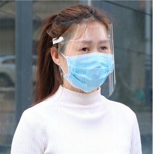 Evrensel Yüz Shield Anti-sis Koruyucu Maske HD Şeffaf Çocuk Çocuk Yetişkin Tam Yüz Yağı-Yağmur geçirmez Toz Koruma Güvenli Maskeleri DHL