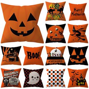 Halloween Kissenbezüge Abdeckung Dekokissen Fall Startseite Sofa Auto Dekorative Weihnachtsgeschenke Startseite Dekorative Ohne Kern WX9-1490