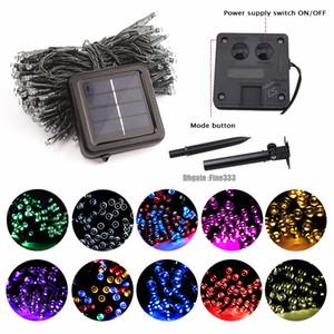LED Lámpara solar al aire libre Luces de cadena 100 LED Fairy Holiday Christmas Party Garland Solar Garden Waterproof 10m