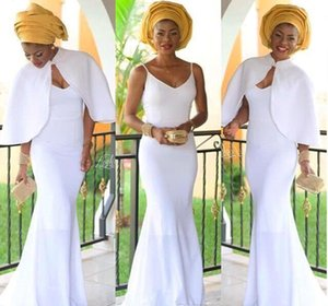 Nigerian South African Evening Dresses Mermaid With Jacket Celebrity Holiday Women Wear Formal Party Prom Gowns Custom Made Plus Size