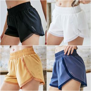 LU-TH417 Yoga Pantalones cortos para mujer Pantalones cortos para correr casual de las señoras de la yoga para adultos Trajes de deporte niñas Ejercicio Fitness Ropa