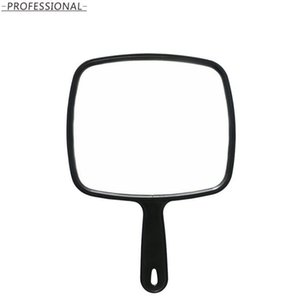 DHL Hand Mirror Hairdressing Black Handheld Mirror with Handle Professional Salon Barbers beauty Mirror Tool for women nd