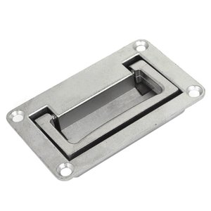 LHLL 9.5cm x 6cm Metal Rectangle Shaped Recessed Folding Pull Handle Grip