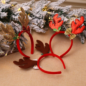 Christmas Decorations Antlers Head Buckle Loose Powder Long Antler Children'S Holiday Show Christmas Headband