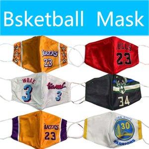 Pallacanestro maschera di cotone maschera monouso può essere messo nella tutela dell'ambiente sostituibile mezzo Máscara de Baloncesto