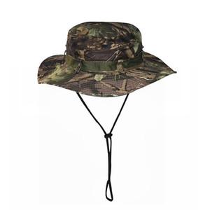 2020 manera de la venta caliente al aire libre sombrero de pescador montañismo camuflaje pesca benney sombrero de la selva sombrero redondo