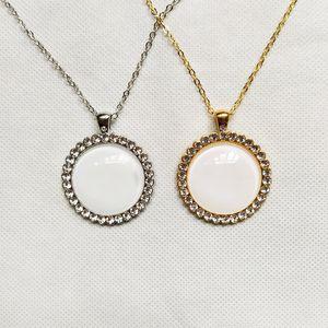 Свободная перевозка груза 50Pcs / Lot способа высокого качества DIY Сублимация Декоративные круглые ожерелье для подарков