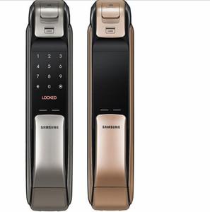 SAMSUNG SHP-DP728 Keyless BlueTooth Fingerabdruck PUSH PULL Zweiweg-Digital-Tür-Verschluss Deutsche Version Big Einsteckschloss