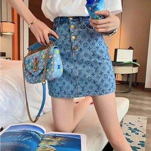2020 летняя мода короткая юбка, тонкая мода, классический алфавит жаккардовый дизайн, уличная мода, высокое качество бесплатная доставка