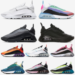 2090 top quality womens mens running shoes Be True air#13;max Black and Anthracite Pure Platinum Green Magma Orange mens trainers size 36-45