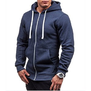 TJWLKJ Streetwear Hoodies Hommes 2019 Nouveau Hoodies Marque Hommes Zipper Sweat Survêtement Survêtement Hip Hop Automne