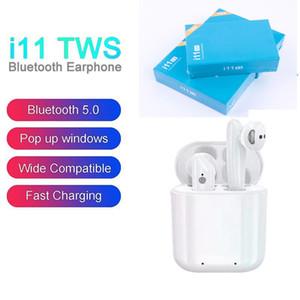 I11 TWS بلوتوث 5.0 لاسلكية سماعات الاذان سماعة صغيرة سماعات الأذن لالهاتف الذكي الروبوت PK i7s I8 i9s شحن سريع