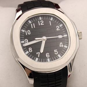 2019 Novo Aquanaut 5167A-001 Caixa de Aço Preto Textura Dial Automático Mens Watch Black Rubber Watches Watch High Quality