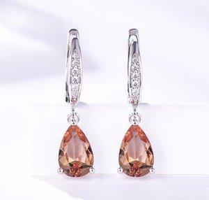 Gemstone Clip Earrings for Women Solid 925 Sterling Silver Created Color Change Earrings Wedding Fine Jewelry Designer Earrings For Women