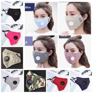 27styles respiration Valve Masque anti-poussière Earloop réglable Imprimer Réutilisable Masques bouche Masques Respirant Designer Sans filtre LJJA4141