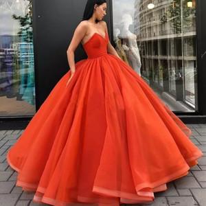 Старинные оранжевые дешевые бальное платье платья выпускного вечера 2019 Милая Вечернее платье Vestido De Festa Длинные вечерние платья Sweet 16 Quinceanera