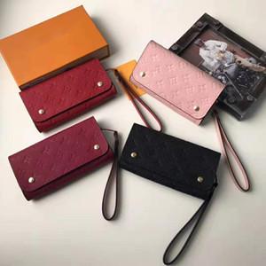 مصمم محفظة المرأة زر محفظة حقيبة المرأة مصمم أزياء المحفظة كليب الكلاسيكية جيب النساء طويلة في مربع ماكياج 58080