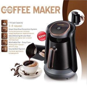 800W automatique turc Cafetière machine électrique sans fil Cafetière de qualité alimentaire Moka Bouilloire pour cadeau 220 V