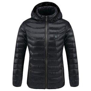 Vestes Intelligent chauffée Menwomen d'hiver d'extérieur à capuchon vestes imperméables thermique chaud USB chauffage Quickly randonnée Vestes