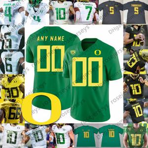 NCAA Oregon Ducks #24 Kenjon Barner 44 DeForest Buckner 47 Kiko Alonso 15 Patrick Chung 9 Arik Armstead белый черный зеленый желтый Майки