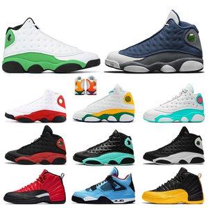 Nike Air Jordan Retro Flint 13 13s Travis Scott Cactus Jack 4 4s 12 12s Jumpman off white Hochwertige Damen Herren Basketballschuhe Designer Trainer Turnschuhe