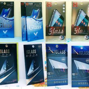 УФ Розничная Упаковка алюминиевая фольга Бумага Упаковочная Коробка для iPhone XS Max XR X 8 Plus Samsung Huawei Закаленное стекло-экран протектор