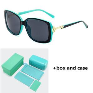 Новый брелок Pattern 4043 Солнцезащитные очки Ultra Light моды для женщин Классический дизайнер очки Blue Box 5 цветов