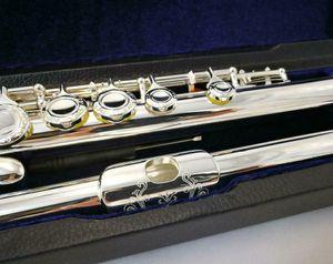 RODWARE RFL-210 Patrón florido grabado 16/17 Flauta cerrada / abierta Plateado plateado Split E Mecanismo C / B Pie