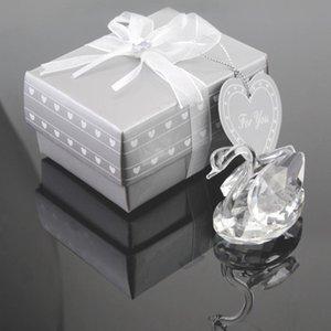 50pcs regali di anniversario di matrimonio rifornimenti del partito centrotavola guest souvenir cigno di cristallo bomboniera Favore di partito piccolo regalo