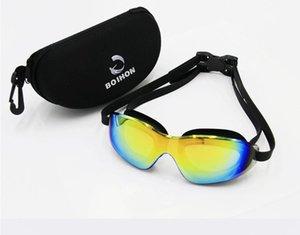 Lunettes de natation HD super imperméables, grands verres de natation pour adultes, anti-buée et anti-UV
