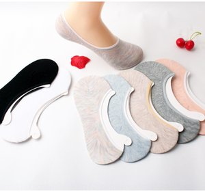 Summer children's shallow boat invisible Silicone invisible socks cotton socks silicone anti-skid