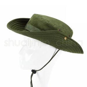 Outdoor Angeln Sonnenschutz-Hut Lässige Camping Wide Brim Sun Cap Mode Männer Reise-West-Cowboy-Wannen-Hüte TTA1581-15