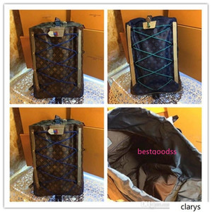LoVuitto MONOGRAMS BACKPACK OUTDOOR PACIFIC BLUE BAG KIM JONES NEW M43834 Size: 35.0 x 54.5 x 19.0 cm