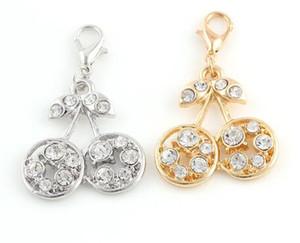 25x27mm (dorato, colore argento) 20 pz / lotto strass ciutrici ciondolo ciondoli fai da te charms adatti per il medaglione galleggiante gioielli di moda