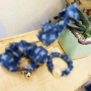 Retro Designer Hairpin Lady Bogen-Haar-Band-Stirnband-hoch elastische Bänder Perlen L Brief Dickdarm- Ring-Haar-Ring