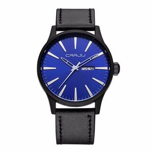 CRRJU 2017 Новые мужские часы Top Brand Luxury Мужские кварцевые часы водонепроницаемые спортивные часы Military кожа Мужской Relogio Мужчина для