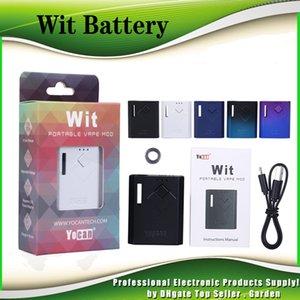 Authentic Yocan Wit Box Mod 500mAh Pré-aqueça o VV Vape bateria Ecig Mods Kit Carregador USB Para 510 Thick Oil Cartridge Carrinhos 100% Genuine