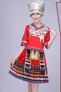 Dança popular chinesa roupas hmong Miao Miao prata mantilha Hat Handwork Silverware