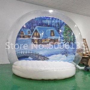Şişme Gece Işığı Kış Aşıklar Snow Globe şeffaf şişme noel küre top Craft Dekor Düğün Hediye şişirilebilir