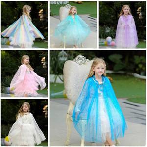 Çocuklar Cloak Puanl Pırıltılı Cape Kızlar Prenses Cape Çocuk Cosplay Giyim Kostümler Panço Kız çocuk Sahne Performansı parti Cloak D799