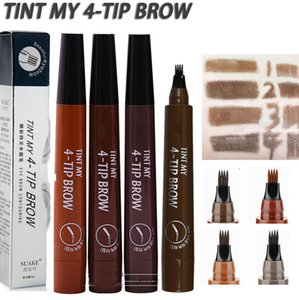 Microblading Eyebrow Pen Waterproof Fork Tip Eyebrow Tattoo Pencil Long Lasting Professional Fine Sketch Liquid Eye Brow Pencil bea175d