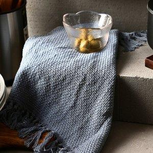 Domésticos criativo Tassel guardanapos Kitchen Decor pano Louça Guardanapos Tea toalha absorvente pano de tabela Tassel Placemat BH3233 TQQ