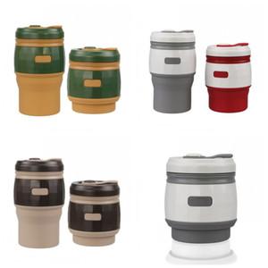 직접 거래 실리콘 접는 커피 컵 안티 끓는 380ml 휴대용 병 망원 컵 도매 가정용 여성 18 2hfH1