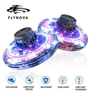 FlyNova Fidget Spinner UFO 360 ° di rotazione giocattoli volanti 2020 nuovo LED UFO volare Spinner ToysAdult decompressione Volo Gyro Con Doni 06