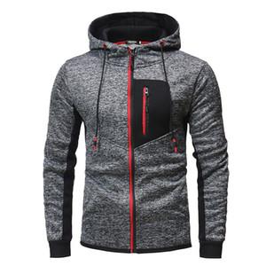 Autunno Panelled Mens Zipper Felpe Mens Designer Cardigan Sport hoodies casuali Pullover allentato Abbigliamento Uomo con cappuccio