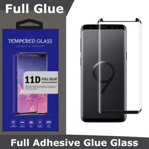 Полный клей Клей 5D Закаленное стекло Корпус Дружественные изогнутый экран протектор для Samsung S10 S20 Plus Примечание 20 Ультра S9 S8 Galaxy Note 10 9 8